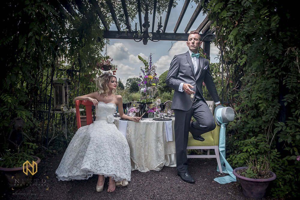 Alice and wonderland themed wedding shoot