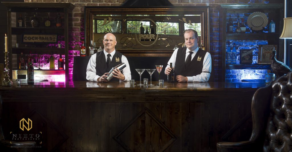 Raleigh Commercial Photography portrait of two bartenders