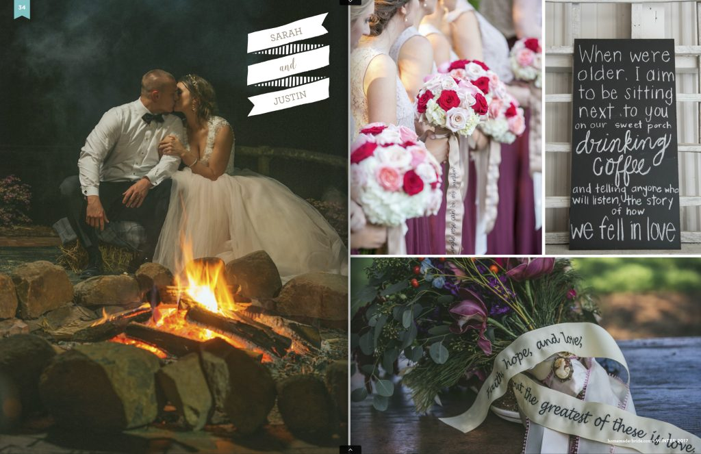 Magazine article on winter weddings from Homemade-Bride magazine