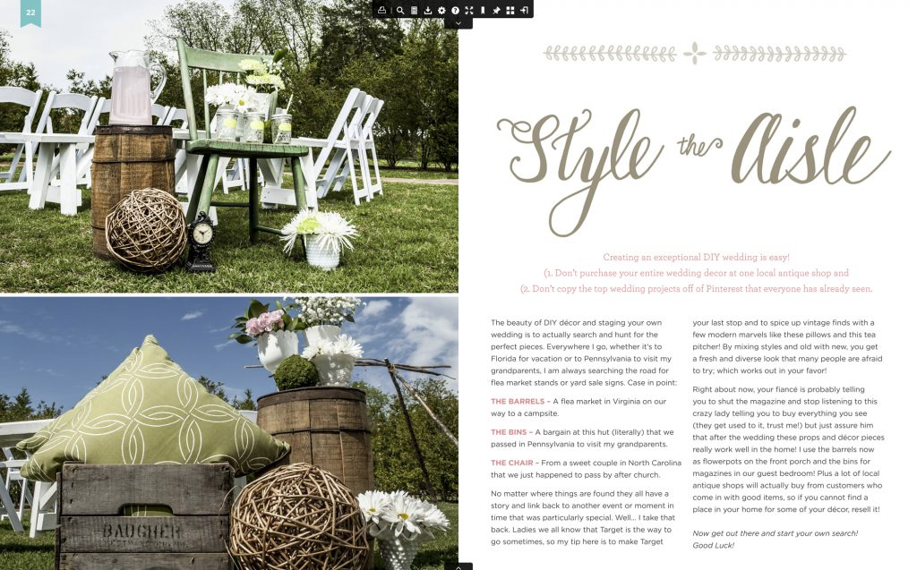 article in homemade-bride magazine from 2014 on isle.