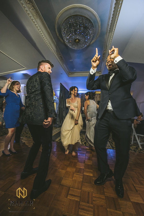 groom dancing at the hall and garden at landmark
