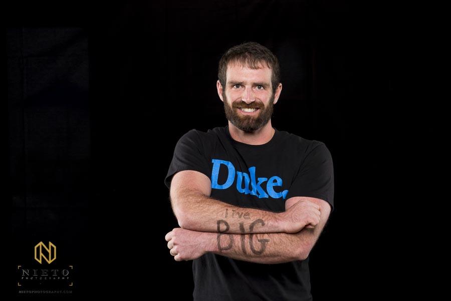 Duke Fuqua student poses for portrait
