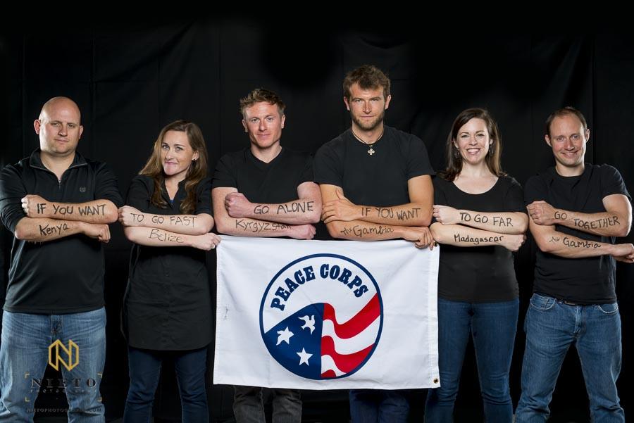 peace corp group poses for Duke Fuqua MBA Reflects portraits