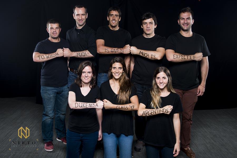 Duke Fuqua MBA students pose for portrait