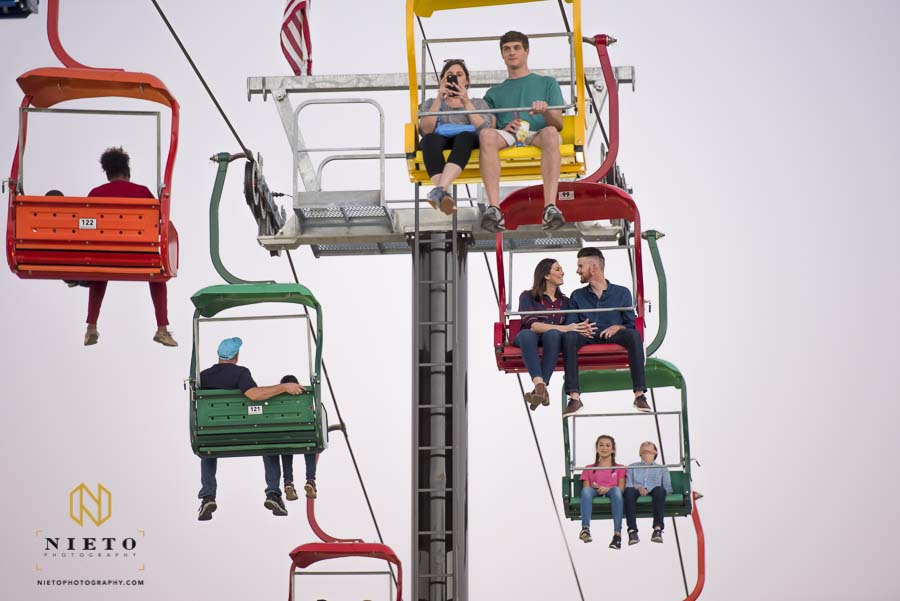 couple spending some time on the Sky Lift at the NC State Fair