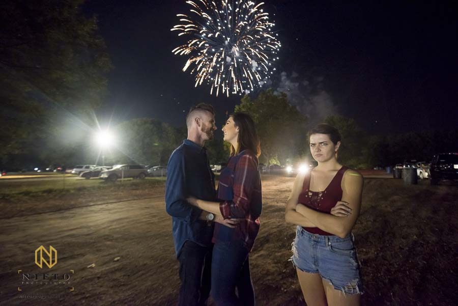 NC State Fair engagement pictures with fireworks