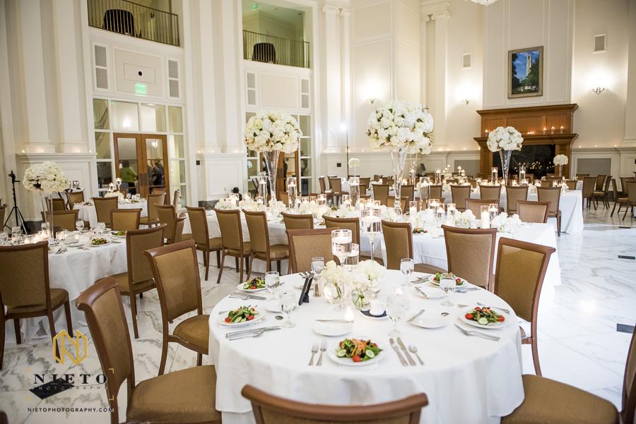 a wide angle shot of the Park Alumni Center ballroom