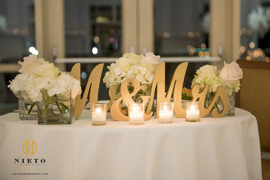a candle lit sweet heart table at the Park Alumni Center