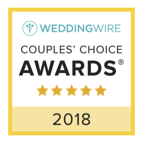 2018 Wedding Wire Couples' Choice Award badge