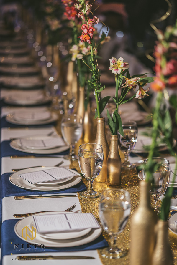 detail shot of the table setup at a Market Hall wedding