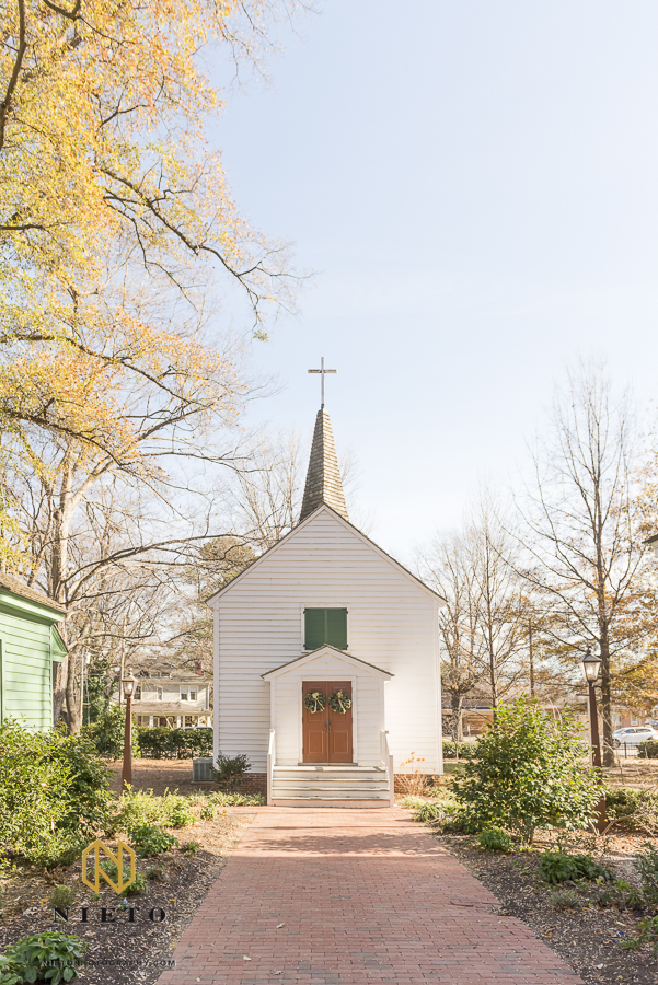 picture of St. Mark's Chapel in Mordecai Historic Park
