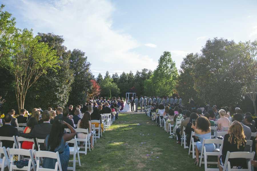 The Hall at Landmark wedding ceremony in the garden
