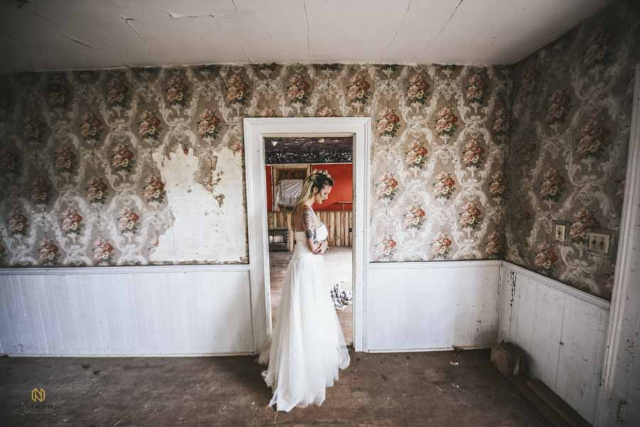 Editorial Bridal Portraits shot in an old house