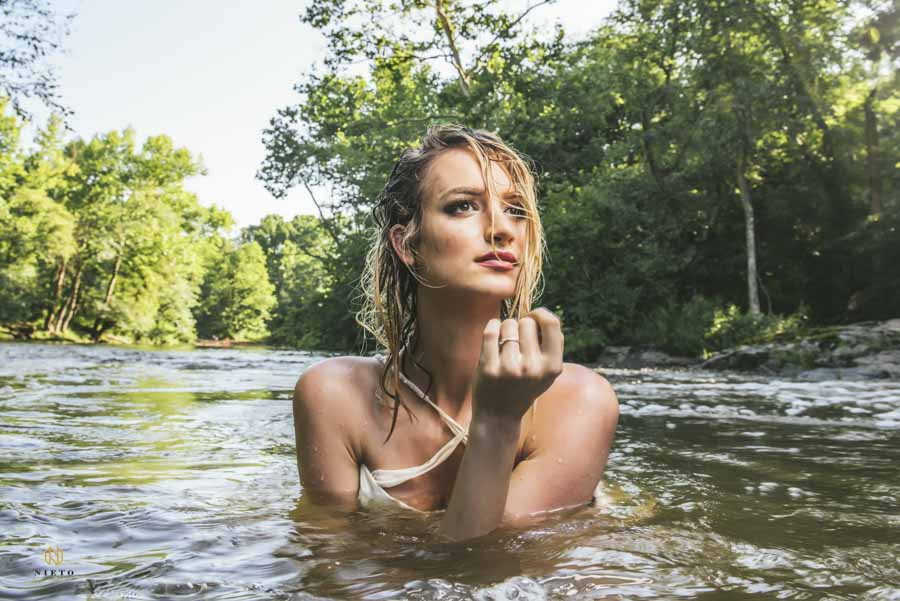raleigh editorial photography in the eno river, part of a creative project my Nieto Photography
