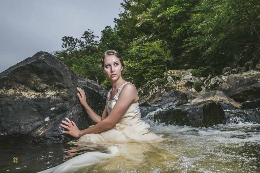 eno river bridal portrait part of a creative photography project by nieto photography