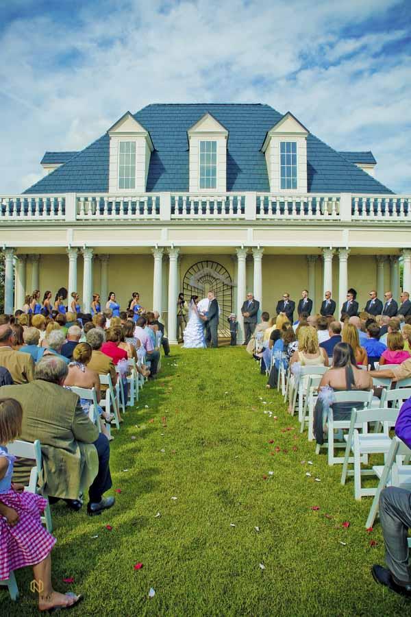 Hall at Landmark garden house wedding ceremony