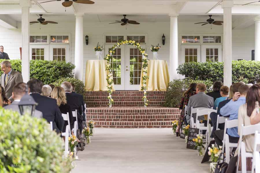 Ceremony arbor at the Hudson Manor