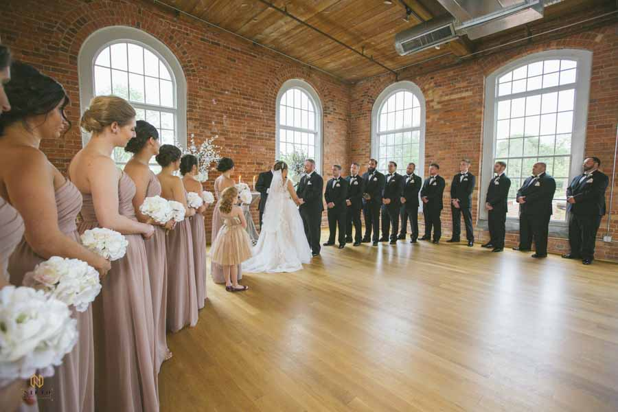 Cotton Room wedding ceremony