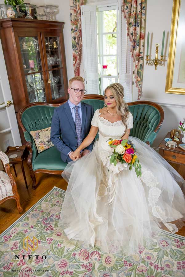 the bride and her coordinator sitting for a portrait