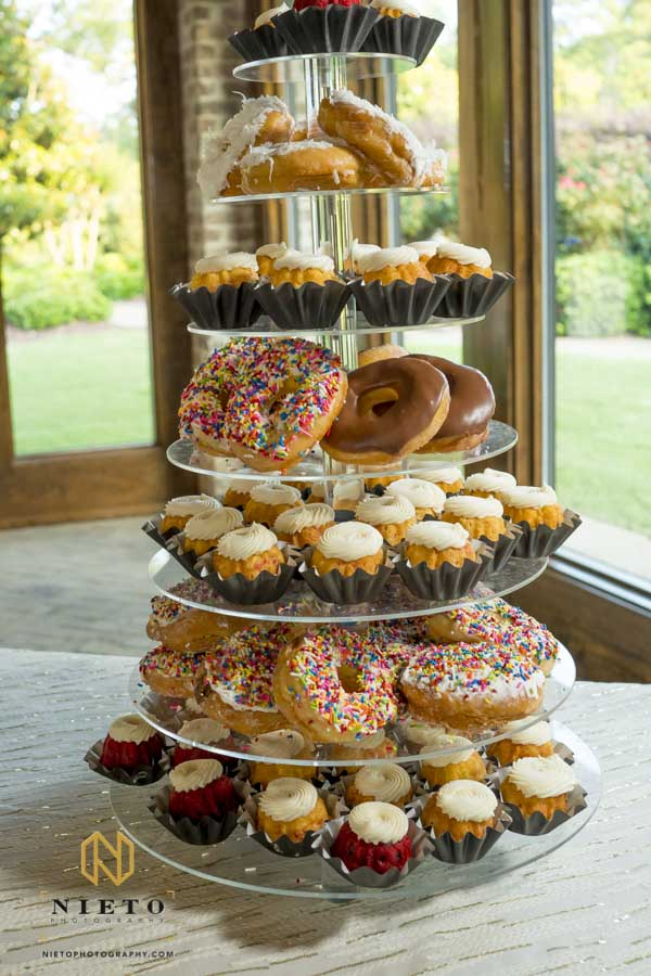 baked deserts on a tiered pedestal at a Sutherland event