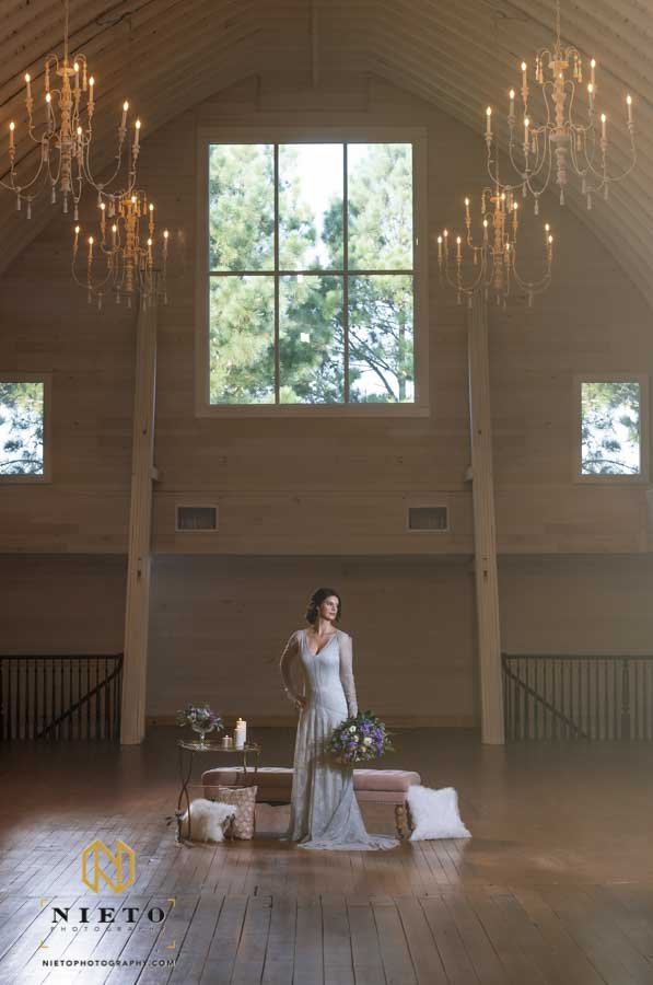 interior image of a Wakefield Barn Bridal Portraits