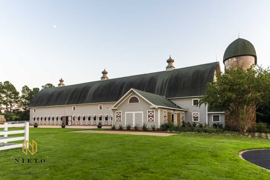 exterior shot of The Historic Wakefield Barn
