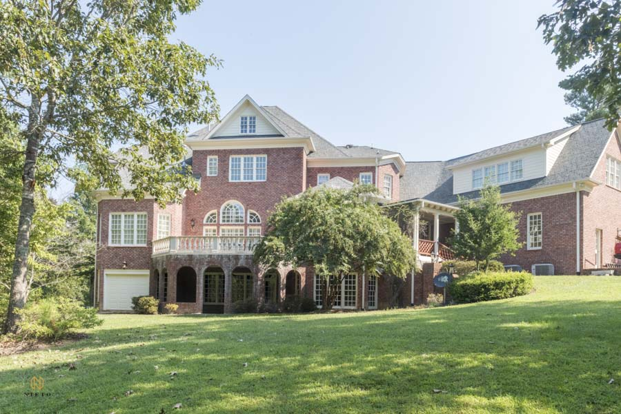 exterior real estate image of a brick house