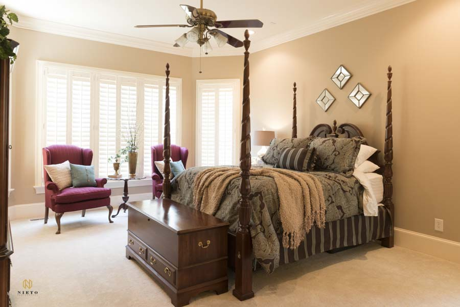 Bedroom suite in a Wake Forest Home
