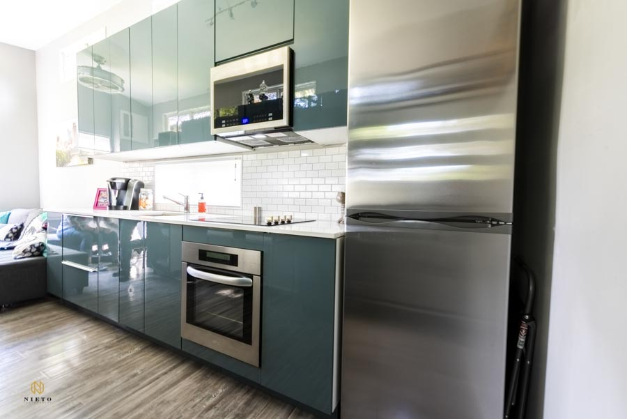 modern kitchen in a tiny home