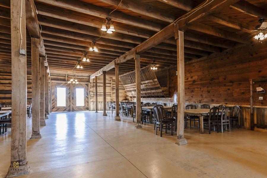 Amazing Graze Events barn downstairs interior shot