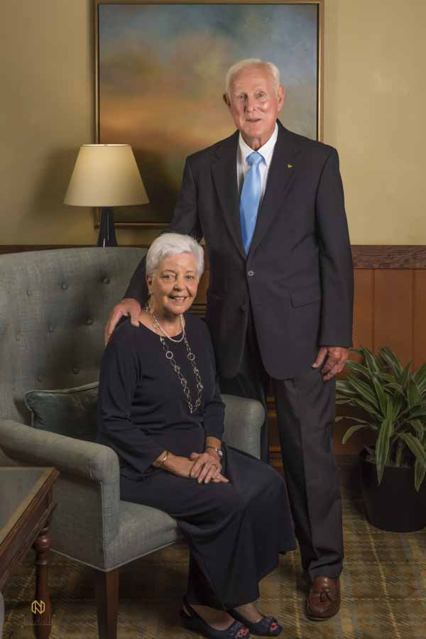 older couple posing for their sixtieth wedding anniversary portrait